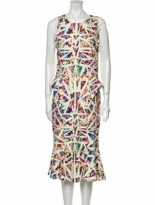 Nicole Miller Printed Midi Length Dress w/ Tags