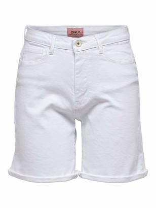 Only Women's Onlpaola Hw Shorts Bb Azg Denim
