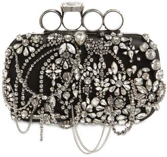 Alexander McQueen PUNK FOUR RING SATIN CHANDELIER CLUTCH