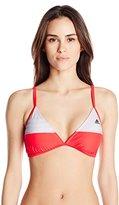 adidas Women's Three Stripe Cross Back Bikini Top