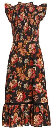 Sea Pascale Smocked Midi Dress