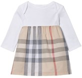 Burberry White Jersey and Classic Check Skirt Dress