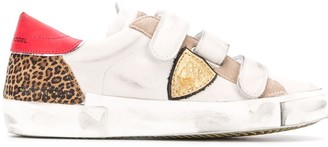 Philippe Model Paris distressed contrast panel sneakers