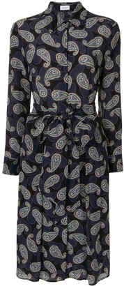 Salvatore Ferragamo Paisley Print Tie-Waist Dress
