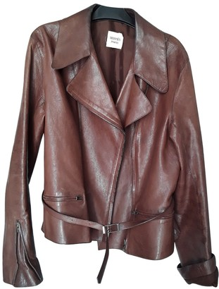 Hermes Camel Leather Leather Jacket for Women
