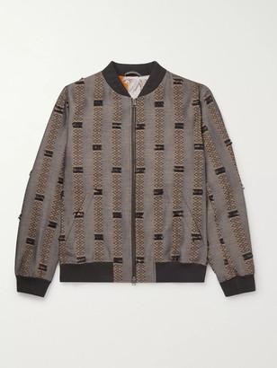 Etro Wool and Silk-Blend Jacquard Bomber Jacket - Men - Gray