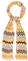M Missoni Chevron Knit Scarf