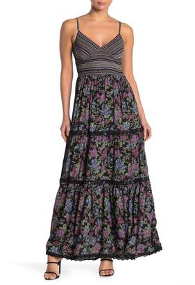 Angie Floral Smocked Tiered Maxi Dress