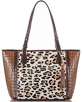 Brahmin Capella Collection Medium Asher Leopard-Print Haircalf Tasseled Tote