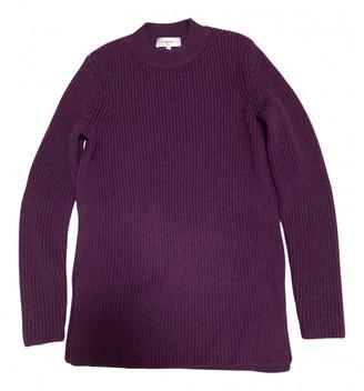 Carven Purple Wool Knitwear