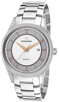 Eterna Men's Artena Stainless Steel and Grey Dial