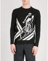 Ralph Lauren Purple Label Cyclist intarsia cashmere jumper