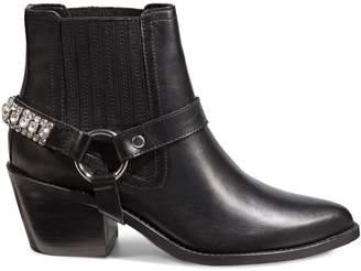 Kurt Geiger London Sylvie Embellished Leather Booties