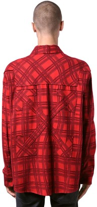 Off-White Oversize Check Cotton Flannel Shirt