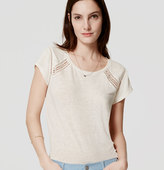 LOFT Ladder Lace Tee