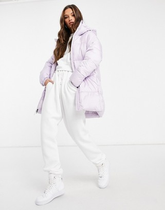 Columbia Puffect mid jacket in lilac