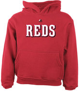 Majestic Little Boys' Cincinnati Reds Wordmark Fleece Hoodie