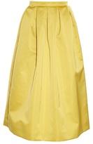 Rochas Duchess-satin midi skirt