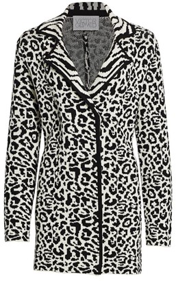 Victor Glemaud Leopard Merino Wool Jacket