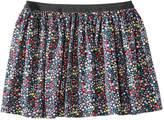 Joe Fresh Kid Girls' Floral Flare Skirt, JF Midnight Blue (Size S)