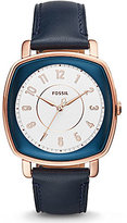 Fossil Idealist Analog Leather-Strap Watch