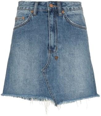 Ksubi Hi-Line mini denim skirt