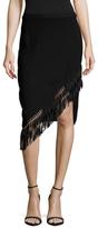 Sachin + Babi Salerno Asymmetrical Fringe Hem Skirt