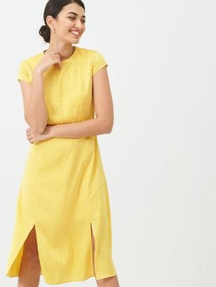 Ted Baker Bellana Soft Short Sleeve Midi Dress - Yellow