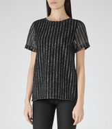 Reiss Kelly METALLIC T-SHIRT