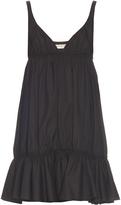 Balenciaga Frill-hem cotton dress