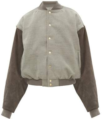 Fear Of God Sixth Collection Fleece And Suede Bomber Jacket - Mens - Grey
