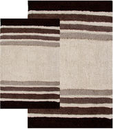Asstd National Brand Chesapeake Merchandising Tuxedo Stripe 2-pc. Bath Rug Set