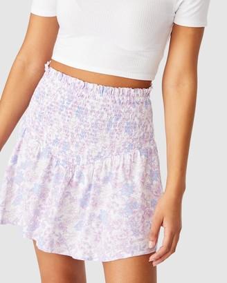 Cotton On Women's Purple Mini skirts - Selma Shirred Mini Skirt - Size XS at The Iconic