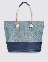 M&S Collection Rope Detail Tote Bag
