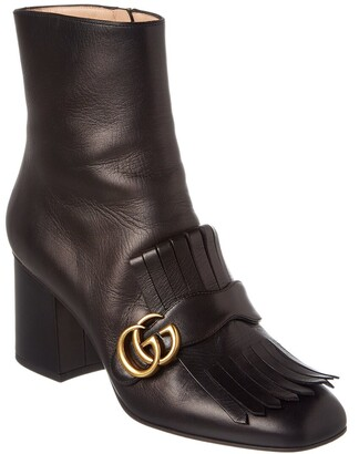 Gucci Gg Fringe Leather Bootie