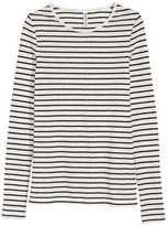 H&M Long-sleeved Jersey Top - Black - Ladies