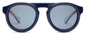 Moncler Eyewear - Bi-colour D-frame Acetate Sunglasses - Mens - Navy