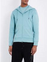 Y-3 Y3 Logo-back cotton-jersey hoodie