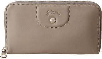 Longchamp Le Pliage Cuir Leather Zip Around Wallet