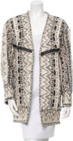 IRO Patterned Open Front Short Coat w/ Tags