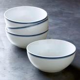 Williams Sonoma Open Kitchen Bistro Cereal Bowls, Set of 4, Blue