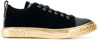 Giuseppe Zanotti Metallic Sole Sneakers