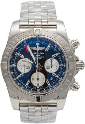 Breitling Navy Blue Dial Stainless Steel Super Avenger Chronograph Men's Watch 44 MM