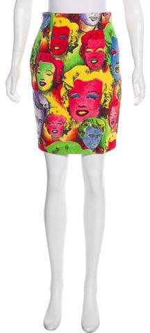Gianni Versace Vintage Pop Art Printed Skirt