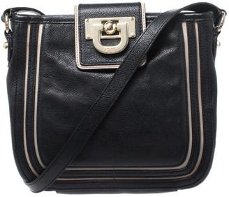 DKNY Black Leather Crossbody Bag
