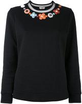 Fendi floral embroidered sweater - women - Cotton/Polyamide/Silk/Plastic - 38