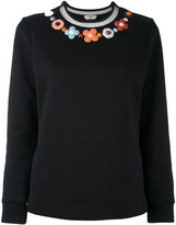 Fendi floral embroidered sweater - women - Silk/Cotton/Plastic/Polyamide - 38