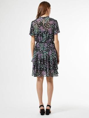 Dorothy Perkins Ditsy Chiffon Flippy Mini Dress - Black