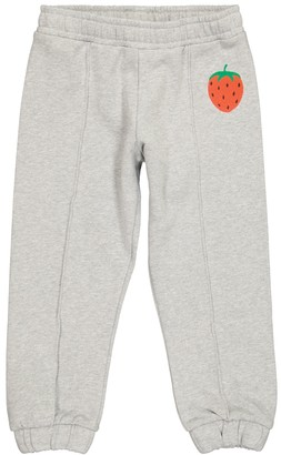 Mini Rodini Strawberry cotton-jersey trackpants