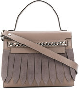 Casadei chain-trimmed tote bag - women - Calf Leather/Leather/Calf Suede - One Size